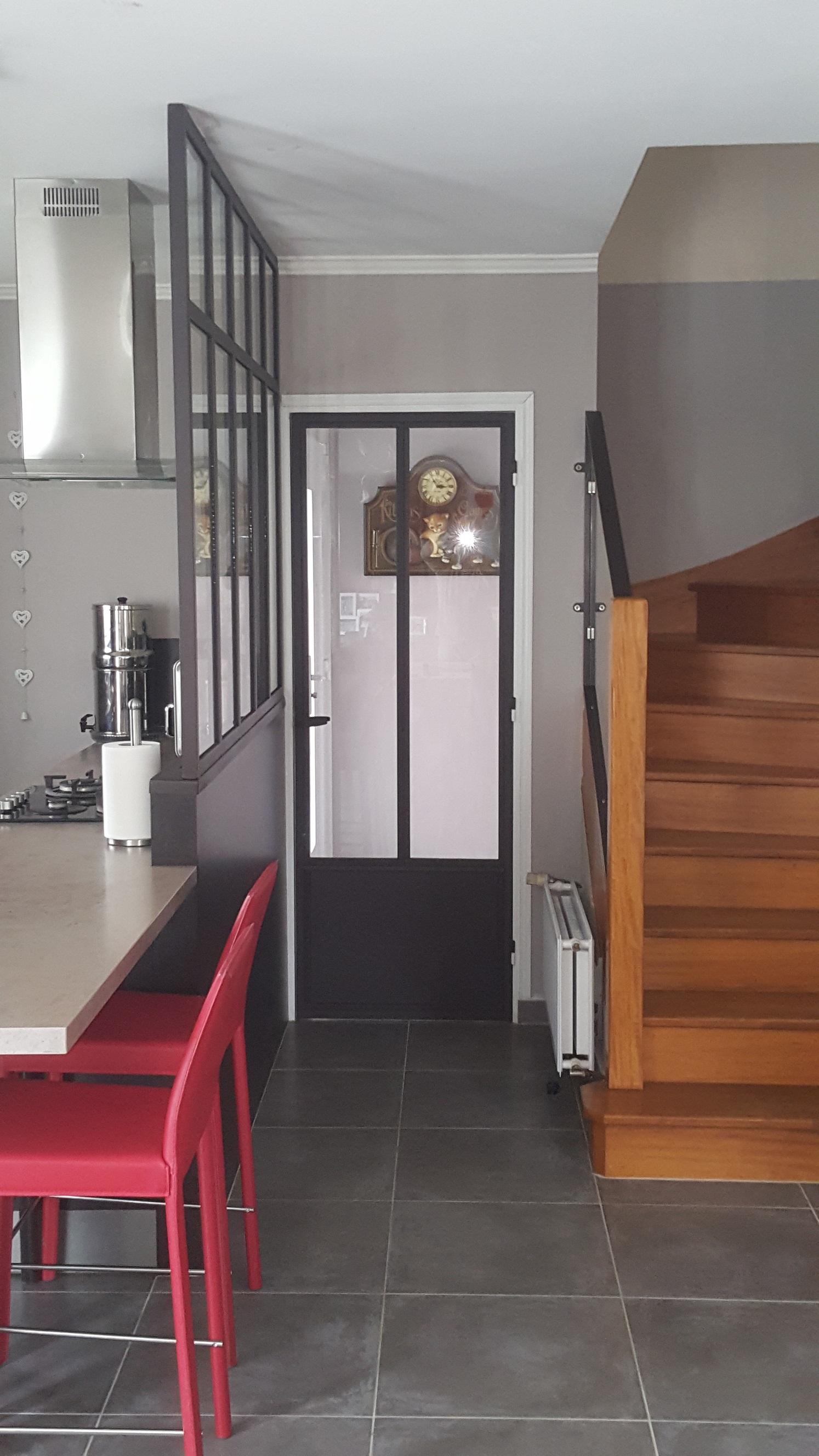 Porte en acier style verrière