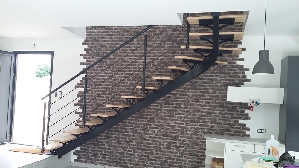 Escalier acier et bois Brest