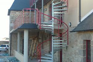Escalier hélicoïdal extérieur Finistère