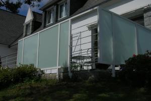 Garde-corps et pare vue sur terrasse