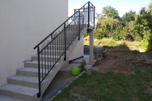 Garde-corps sur escalier