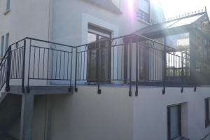 Garde-corps extérieur sur terrasse
