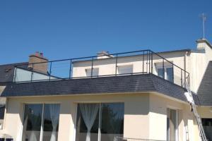 Garde-corps en acier sur terrasse